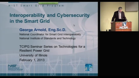 Thumbnail for entry Interoperability and Cybersecurity in the Smart Grid