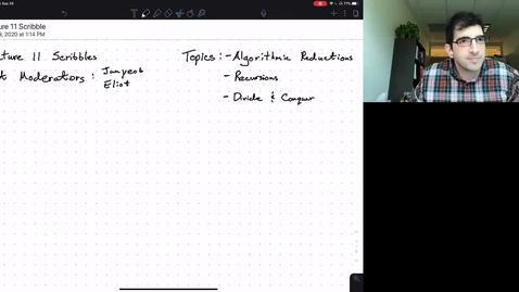 Thumbnail for entry ECE/CS 374 AL1/BL1 - Lecture 10 - Recursion, Merge sort