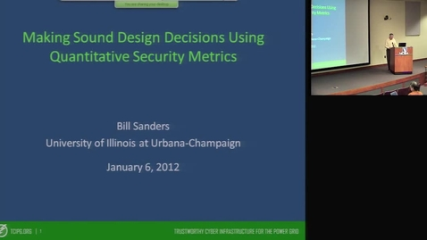 Thumbnail for entry Making Sound Design Decisions Using Quantitative Security Metrics