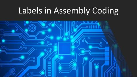 Thumbnail for entry Labels for Assembly Programming