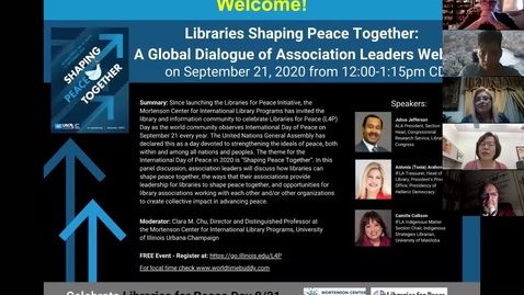 Thumbnail for entry L4P Day 2020 - Libraries Shaping Peace Together: A Global Dialogue of Association Leaders