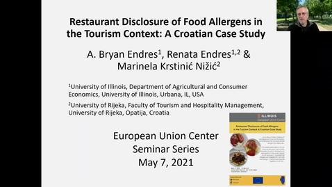 Thumbnail for entry Restaurant Disclosures of Food Allergens in the Tourism Context: A Croatian Case Study