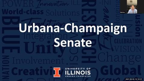 Thumbnail for entry Academic Senate Meeting, May 3, 2021