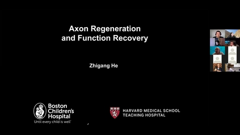"""Thumbnail for entry NEUR 520, Section SEM - """"Axon regeneration and functional recovery,"""" Zhigang He, PhD, BM, Professor, Harvard Medical School, 1/26/2021"""
