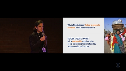 Thumbnail for entry 2019 Research Live! Swati Rastogi: Economic Efficacy of Women Vendors-only Market Delhi, India