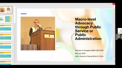 Thumbnail for entry Macro-level Advocacy through public Service or Public Administration