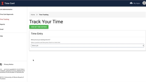 Thumbnail for entry ATLAS Time Card - How To View Your Own Time Entries