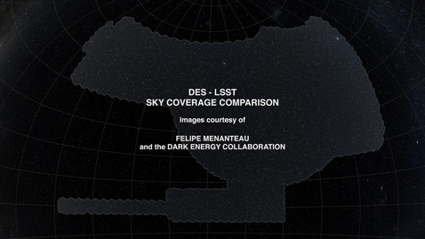 Thumbnail for entry Dark Energy Survey to Large Synoptic Survey Telescope Sky Coverage Comparison