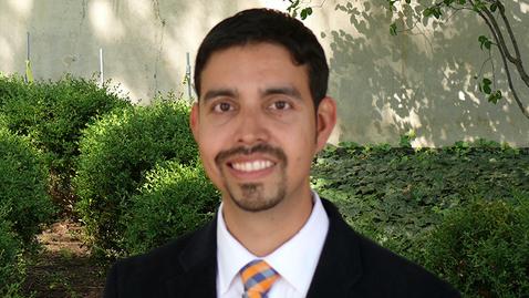 Thumbnail for entry A Few Minutes With ... KCH assistant professor Manuel Hernandez