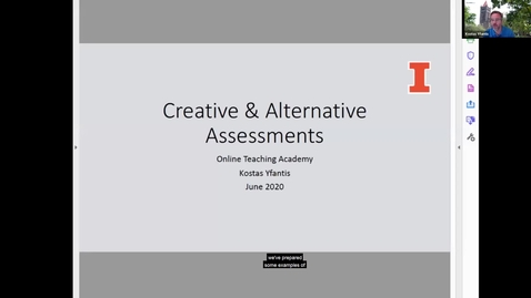 Thumbnail for entry OTA: Examples of Creative & Alternative assessments