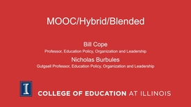 Thumbnail for entry MOOC/Hybrid/Blended