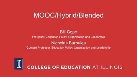 Thumbnail for entry MOOC/Hybrid/Blended
