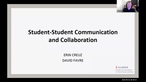 Thumbnail for entry OTA: Student-to-student communication and collaboration