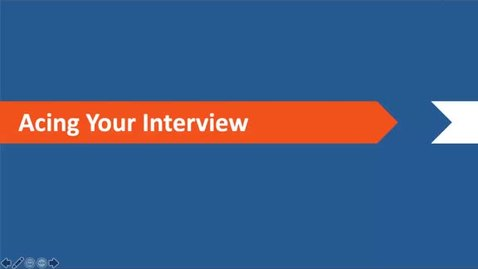 Thumbnail for entry Acing Your Interview