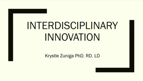 Thumbnail for entry DNS 50th Anniversary | Interdisciplinary Innovation | Krystle Zuniga, Assistant Professor, Texas State University