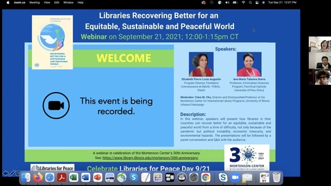 Thumbnail for entry Libraries Recovering Better for an Equitable, Sustainable and Peaceful World