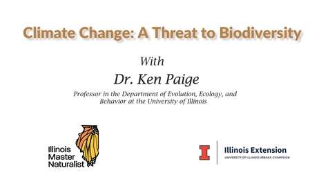 Thumbnail for entry Climate Change - A Threat to Biodiversity