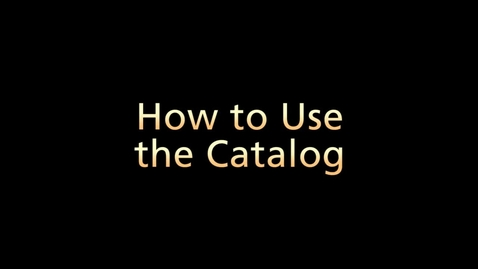 Thumbnail for entry How to Search Using the Catalog (Part 3 of 6)