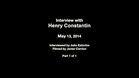 Interview with Henry Constantin
