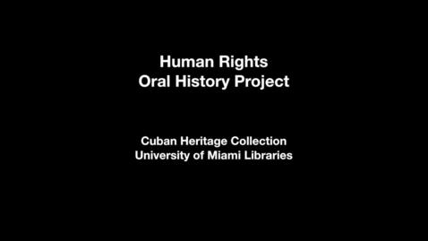 Thumbnail for entry Interview with Luis Enrique Ferrer García and Milka Peña Martínez: Part 1 of 2