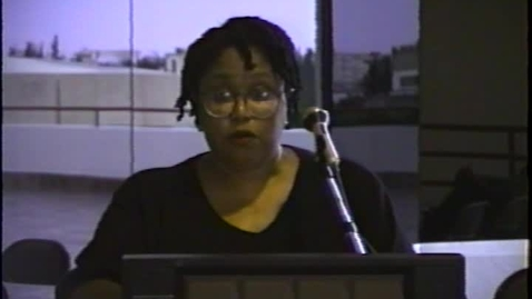 Thumbnail for entry Fiction and Poetry Readings: Dalma Llanos, Sarah Pemberton Strong, Lelawattee Manoo-Rahming, Vincent Neptune, Faye Harrison, Elna Lawton de Torruella, Jean Goulbourne, Donna Weir-Soley and Malachi Smith (1995)