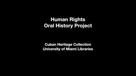 Thumbnail for entry Interview with Jorge Luis García Pérez and Iris Pérez Aguilera