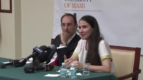 Thumbnail for entry Visita de Yoani Sánchez a la Universidad de Miami