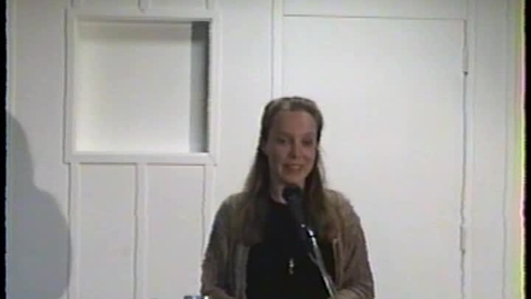 Thumbnail for entry Fiction and Poetry Readings: Brittany Wivell, Nicola Johnson, Maritza Stanchich, Eugenia O'Neal, Joanne Hillhouse, Beatrice Gardiner, Kezia Page, and Omar Garcia (1995)