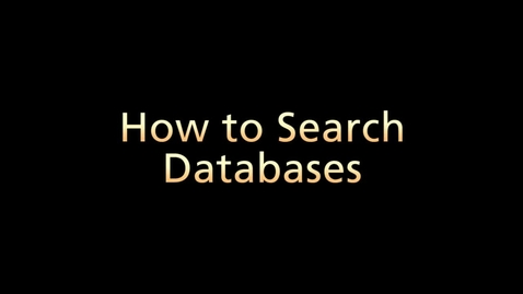 Thumbnail for entry How to Search Databases (Part 4 of 6)