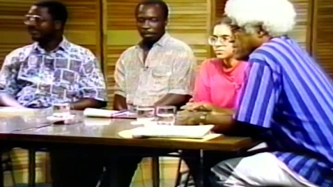 Thumbnail for entry Caribbean Writers and Their Art: Nicolette Bethel, Garfield Ellis, and Similih Cordor interviewed by George Lamming (1992)