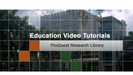 Education 8 - Proquest Research Library