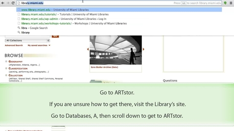 Thumbnail for entry ARTstor - How to access a password protected folder