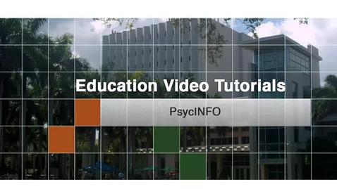 Thumbnail for entry Education 6 - PsycINFO