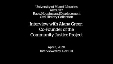Thumbnail for entry Interview with Alana Greer