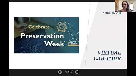 Thumbnail for entry Virtual Tour of the Conservation Lab at UML (Preservation Week 2021)