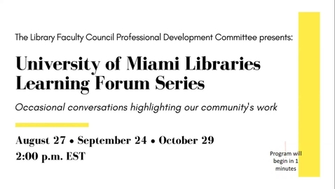 Thumbnail for entry A Passionate Collector: Voyaging Through the Kislak Collection (UML Learning Forum Series)