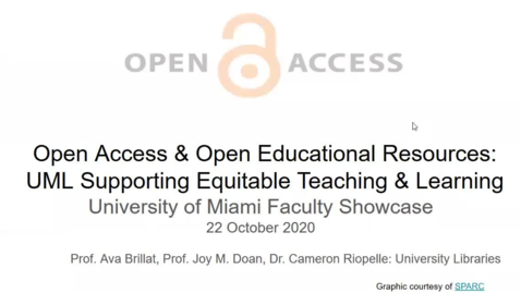 Thumbnail for entry Open Access & Open Educational Resources: UML Supporting Equitable Teaching & Learning (2020 Faculty Showcase)