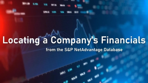 Thumbnail for entry Locating a Company's Financials