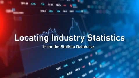 Thumbnail for entry Locating Industry Statistics