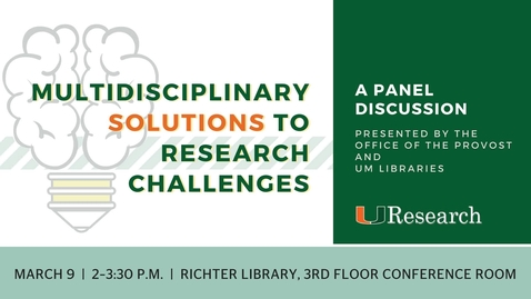 Multidisciplinary Solutions to Research Challenges