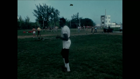 Thumbnail for entry Ray Bellamy on Greentree Practice Field in the late 1960s