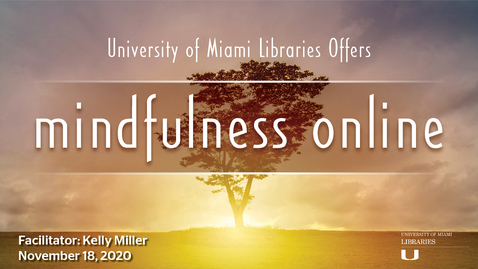 Thumbnail for entry Mindfulness of Body and Body Scan