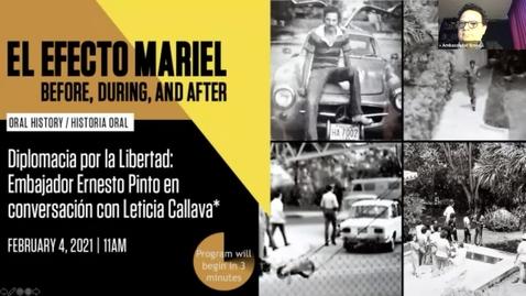 Thumbnail for entry Diplomacia por la Libertad: Embajador Ernesto Pinto en conversación con Leticia Callava