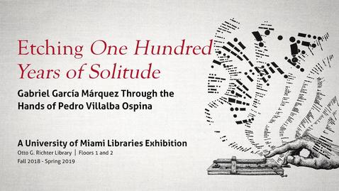 Thumbnail for entry Etching One Hundred Years of Solitude