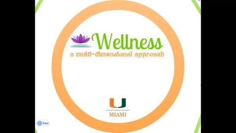 Thumbnail for entry Wellness: A Multi-Dimensional Approach