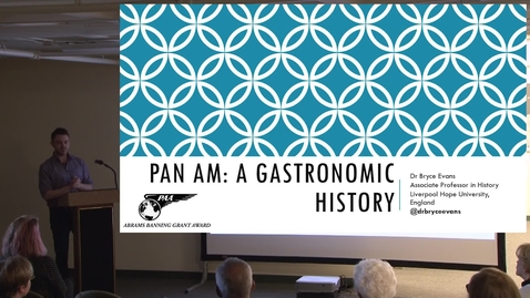 Thumbnail for entry Pan Am: A Gastronomic History