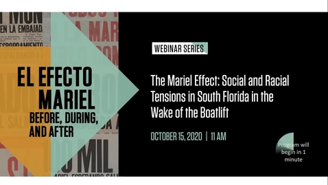 Thumbnail for entry The Mariel Effect: Social and Racial Tensions in South Florida in the Wake of the Boatlift