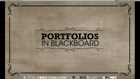 Thumbnail for entry Using Portfolios in Blackboard for Branding Development (2020 Faculty Showcase)