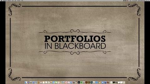 Thumbnail for entry Using Portfolios in Blackboard for Branding Development (2020 Faculty Showcase)