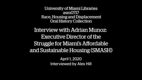 Thumbnail for entry Interview with Adrian Munoz